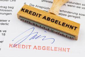 Kredit abgelehnt, was tun